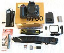 Nikon D750 24.3 MP FX Full Frame HD 1080p Video Digital SLR Camera Body + Extras
