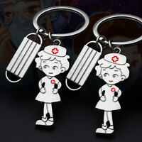 Nurse Key Chain With Tassel Charm Keychain Stainless Steel Women Bag Key R N_N