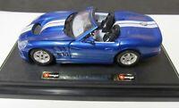 B BURAGO - Sheby Series 1  - (1999) - Metall-Modell  - 1:24 - Blau-Metallic