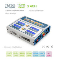 4 in 1 EV-Peak CQ3 Battery Balance Charger 100W 10A AC/DC for LiPo LiHV Battery