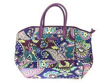 "Vera Bradley ""Heather"" Paisley Purple Handbag Purse Tote- Retired Print"