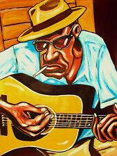 OLD BLUES MAN PRINT poster mississippi delta country bottleneck blues guitar cd