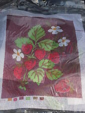Free Ship~STRAWBERRIES NEEDLEPOINT KIT~New in Package