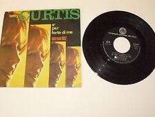 """BETTY CURTIS """"E' PIU' FORTE DI ME"""" disco 45 giri CGD Italy 1966 SANREMO 67"""