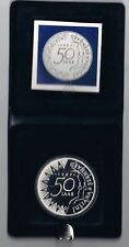 NETHERLANDS COIN 50 GULDEN 1987 PROOF WITH CASE AND CERTIFICATE