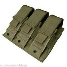 Condor MA52 Triple Pistol Mag Pouch - OD Green Tactical magazine holster