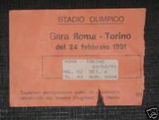 ROMA - TORINO TICKET BIGLIETTO 1990/91 SERIE A