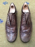 Prada Mens Brown Leather Lace Up Loafers Shoes UK 10 US 11 EU 44 Shaded