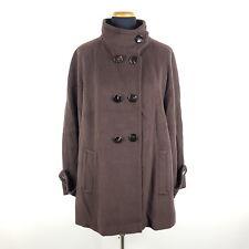 Laurel Mantel Damen Gr. 40 Braun Alpaka Wolle Duffle Coat Wollmantel