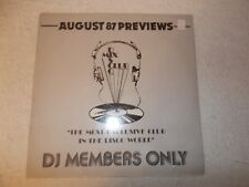 Vinyl 12 inch Record Album LP August 87 Previews Disco Mix Club