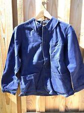 Ancienne veste bleu de travail , bleu de Verdun, GEDEVA- Veste vintage paysan