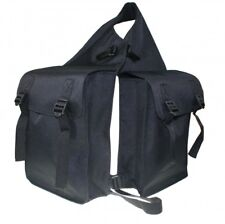 Saddle Bag Horse Doppelsatteltasche For Rear Black Arbo Inox