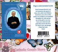 Saint St. Josemaria Escriva with Prayer S1 - Relic Paperstock Holy Card