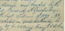 1848 Manuscript Notes - CHOLERA PANDEMIC - EARLY WATER TREATMENT - Priessnitz
