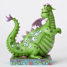 New JIM SHORE DISNEY Figurine PETES DRAGON Quilted Statue Folk Art GREEN PURPLE