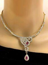 Beautful Necklace Set Jewelry Bollywood Bridal American Diamond Fashion Jewelry