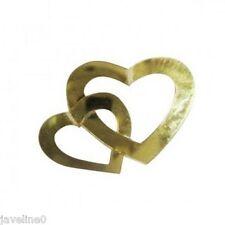 Confettis de Table Mariage Coeurs Entrelacés Or