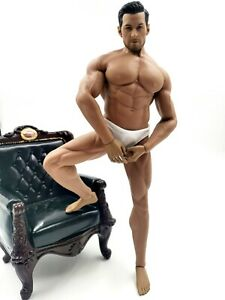 """1/6 Scale Super Muscular Gay Doll Beard Mature Man GAY Toy 12"""" Collectible Hot"""