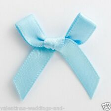 6mm Satin Bows 3cm Wide Pack of 100 Pale Blue 7926
