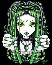 Green Fairy Cybergoth Vivian Dreadfalls Myka Jelina Art 8x10 Signed PRINT Vivian