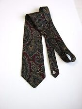 CRAVATTA TIE PAISLEY 100% SETA SILK MADE IN USA