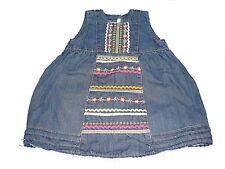 H & M zauberhaftes Jeans Kleid Gr. 80 mit Stickereien !!