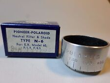 RARE Pioneer Polaroid Neutral Filter and Shade Type N-6 For EK Model 60