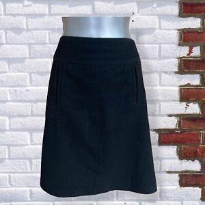M&S - Womens UK 8 Black Knee Length Lined Straight Skirt