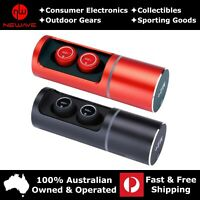 HiFi Stereo Rotating Cylinder True Wireless Earbuds Earphones M2+ Mini Black/Red