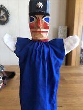 Lotte Sievers Hahn Kasperle Puppe Handpuppe WACHTMEISTER mit Holzkopf Holz