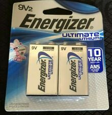 2 Pack Energizer 9 Volt 9V Ultimate Lithium Battery Exp. 2028/9 - 10 YEARS