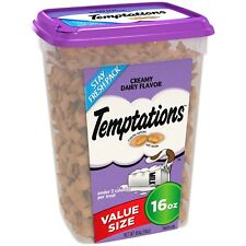 NEW TEMPTATIONS CREAMY DAIRY FLAVOR 16 OZ PACK VALUE SIZE TREATS FOR CATS CRUNCH