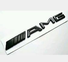 BLACK AMG BOOT BADGE EMBLEM FOR MERCEDES  C CL CLK SLK S SL E CLASS UK STOCK