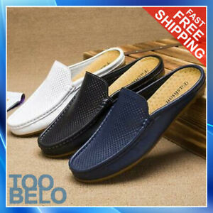 Fashion Men's Half Silpper Loafers Breathable Casual Boat Shoes Driving Slip On