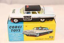 Corgi Toys 481 Chevrolet Police Car very near mint in a SUPER box all original