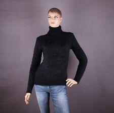 Damen Pullover mit Straßsteinen, Farbe Schwarz, Größe M oder L (nach Wahl)