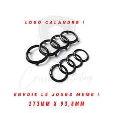 Emblemes Logo Audi Noir Brillant Callandre  Avant