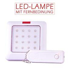 LED Lampe hell mit Fernbedienung 10m Leuchte Batteriebetrieb Schranklampe 16LEDS