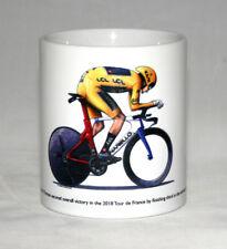 Cycling Mug. Geraint Thomas on TT Bike, Tour de France Winner 2018