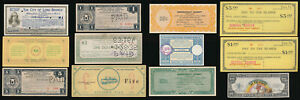 12 UNUSUAL OLD USA SCRIP NOTES & BONDS (1930's & UP) SEE THE PICTURES > NO RSRV