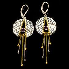 """Amethyst Copper 925 Sterling Silver Earrings 2 7/8"""" Ana Co Jewelry E404422"""