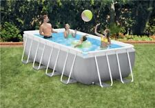 Intex Prism Frame Rectangular Pool, 400x200x100cm, inkl. GS-Pumpe Swimmingpool