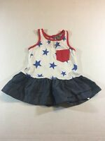Baby Gap 3-6 Month Baby Girl Memorial Day 4th Of July Dress Red White Blue Tank