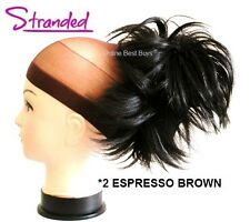 LARGE STYLED CLAMP HAIR PIECE EXTENSION CLAW CLIP IN UPDO DARK ESPRESSO BROWN *2