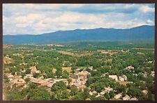 Aerial View of Brandon, Vermont in Rutland County US 7 Chrome Postcard Unused