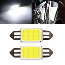 2PCS COB 39mm White Festoon Car Interior Light Dome LED Light Car Lamp Bulb Kits