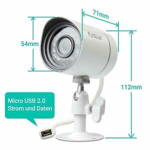 Funlux720P Sicherheitskamera für Zmodo / Funlux Sicherheitssystem (weiß) 4erPACK