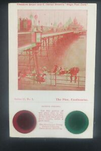 THEODORE BROWN MAGIC POST CARD / OPTICAL TOY / STEREOVIEW / RARE AND ORIGINAL