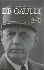 DICTIONNAIRE DE GAULLE ANDRIEU BRAUD PIKETTY + PARIS POSTER GUIDE