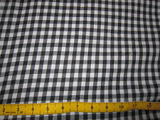 "Black & White Check Soft Cotton Dress Fabric 60"" Wide by the Metre 60's Retro"